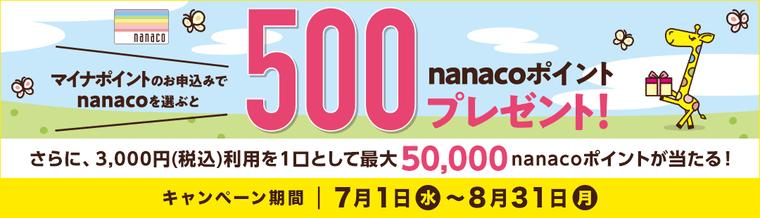 nanacoマイナスポイント